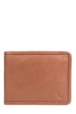 Hidesign 267-017A Tan Stitched RFID Bi-Fold Leather Wallet