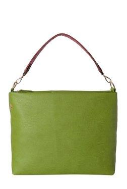 Baggit Pray Green Solid Hobo Bag