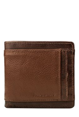 Hidesign Brown Panelled Bi-Fold Leather Wallet