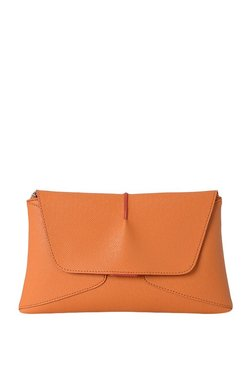 Baggit Indus Orange Paneled Clutch