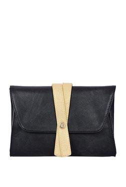 Baggit Lissome Black Solid Flap Clutch b03002c528620