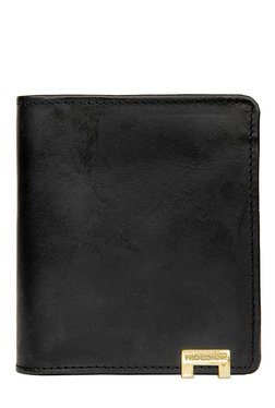 Hidesign 268-CH Black Solid Bi-Fold Leather Wallet