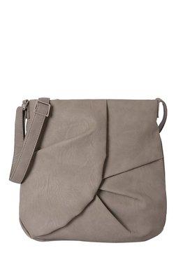 Baggit Collins Dark Beige Pleated Sling Bag