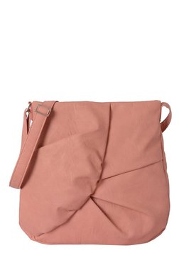 Baggit Collins Rose Pink Pleated Sling Bag