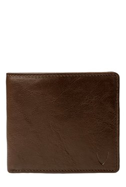 Hidesign Brown Solid RFID Bi-Fold Leather Wallet