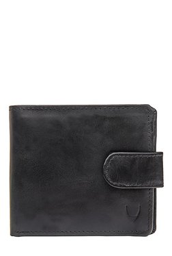 Hidesign Black Solid Bi-Fold Leather Wallet