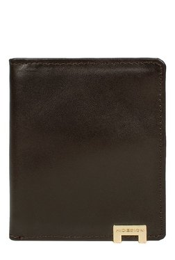 Hidesign 268-CH Dark Brown Solid Bi-Fold Leather Wallet