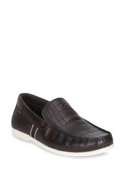 Red Tape Dark Brown Loafers
