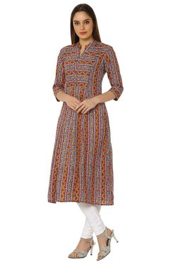 8ab818bb7b1 Soch Peach Printed Cotton Anarkali Kurta Best Deals With Price ...