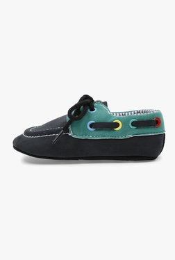 Lilliput Black Flat Lace-Up Shoes
