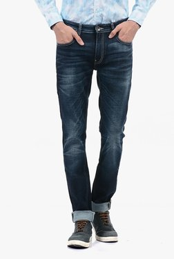 Pepe Jeans Blue Lightly Washed Mid Rise Jeans - Mp000000002181289