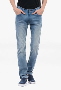 Pepe Jeans Blue Lightly Washed Mid Rise Jeans - Mp000000002181279