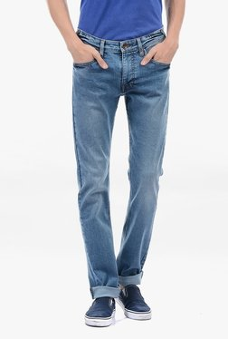 Pepe Jeans Blue Lightly Washed Mid Rise Jeans - Mp000000002181479