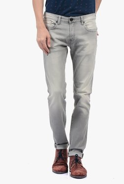 Pepe Jeans Grey Lightly Washed Mid Rise Jeans