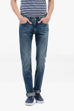 Pepe Jeans Blue Lightly Washed Mid Rise Jeans - Mp000000002181345