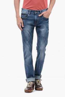 Pepe Jeans Blue Lightly Washed Mid Rise Jeans - Mp000000002181462