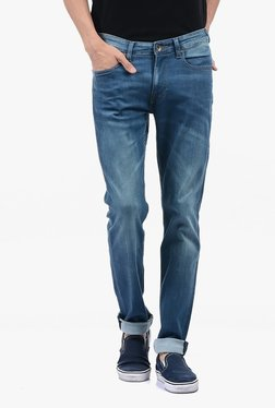 Pepe Jeans Blue Lightly Washed Mid Rise Jeans - Mp000000002182616