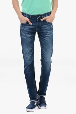 Pepe Jeans Blue Lightly Washed Mid Rise Jeans - Mp000000002182251
