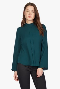 Solly By Allen Solly Green Full Sleeves Top