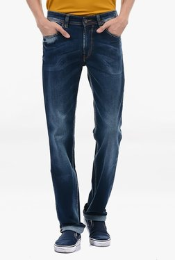 Pepe Jeans Blue Lightly Washed Mid Rise Jeans - Mp000000002182276