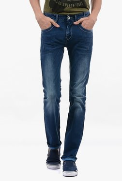 Pepe Jeans Blue Lightly Washed Mid Rise Jeans - Mp000000002182954
