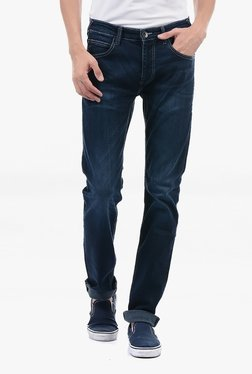 Pepe Jeans Blue Lightly Washed Mid Rise Jeans - Mp000000002183032