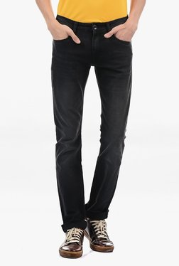 Pepe Jeans Black Lightly Washed Mid Rise Jeans