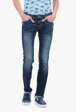 Pepe Jeans Blue Lightly Washed Mid Rise Jeans - Mp000000002183253