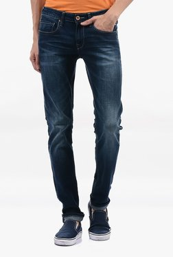 Pepe Jeans Blue Lightly Washed Mid Rise Jeans - Mp000000002183378