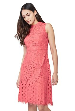 AND Coral Lace Shift Dress
