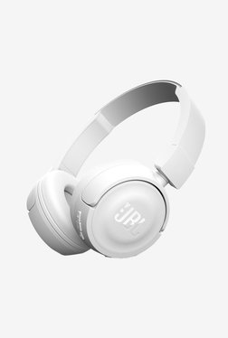 JBL T450BT Bluetooth Headphones with Mic (White)