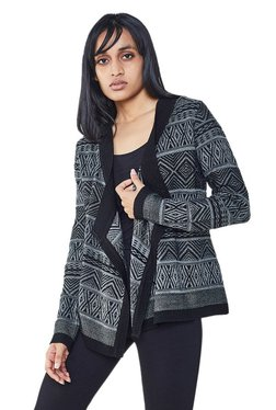 AND Black & Grey Aztec Print Shrug