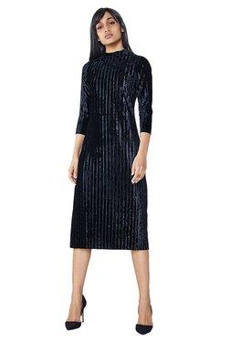 AND Black Velvet Bodycon Dress