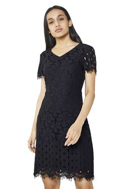 AND Black Lace Shift Dress