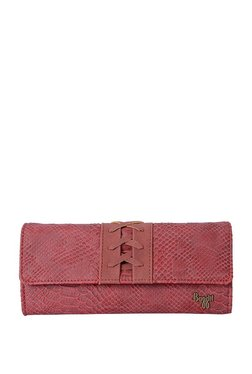 Baggit Accenty Oxblood Red Textured Wallet