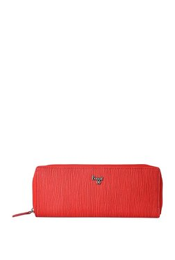 Baggit Legend Red Textured Wallet