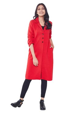 Global Desi Red Quilted Jacket