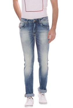 Basics Blue Low Rise Super Skinny Fit Jeans