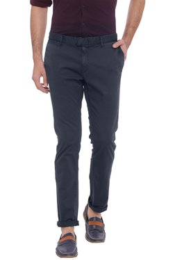 Basics Navy Tapered Fit Mid Rise Chinos