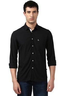 Parx Black Full Sleeves Slim Fit Shirt