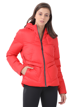 Puma Red Quilted Ferrari Down Hood Jacket