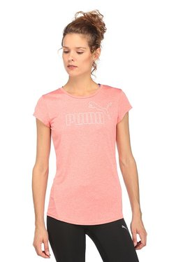 Puma Peach Graphic Print Active ESS No.1 T-Shirt