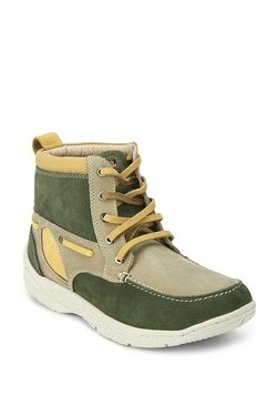 Red Chief Olive Green Casual Boots