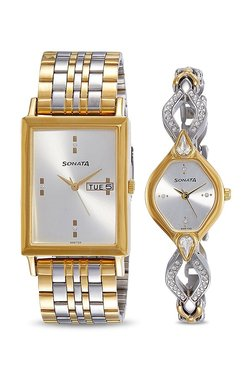 78a9b175603 Sonata NK770038063BM01 Wedding Couple Analog Watch