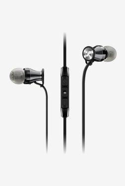 Sennheiser M2 IEI Momentum Headphones for iPhone/iPad (Black/Chrome)
