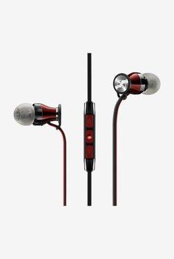 Sennheiser Momentum Headphones with Mic (iOS Version) (Black/Red)