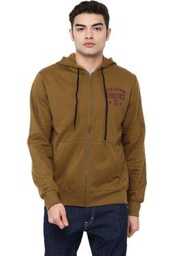 Celio* Brown Regular Fit Cotton Sweatshirt