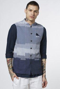ETA By Westside Blue Slim Fit Nehru Jacket