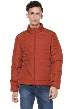 Celio* Orange Quilted Full Sleeves Jacket