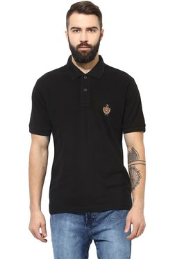 Red Tape Black Regular Fit Polo T-Shirt